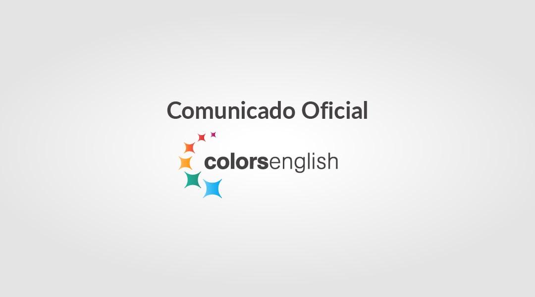 colors english comunicado