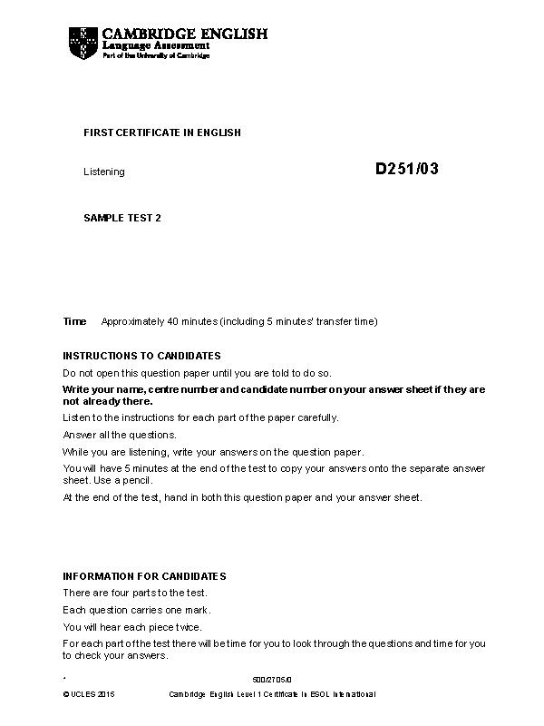 cambridge english first 2015 sample paper 2 listening v2 1